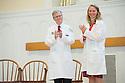 Dean Rick Morin, M.D., left, Christa Zehle, M.D. Class of 2016 White Coat Ceremony.