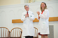 Dean Rick Morin, M.D., left, Christa Zehle, M.D. Class of 2016 White Coat Ceremony.