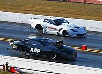 Mar 18, 2017; Gainesville , FL, USA; NHRA pro mod driver Mike Castellana (near) races alongside Sidnei Frigo during qualifying for the Gatornationals at Gainesville Raceway. Mandatory Credit: Mark J. Rebilas-USA TODAY Sports