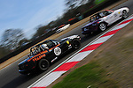 Ma5da MX5 Racing Brands Hatch. Mark Pierpoint chases down Martin Stevinson at Druids Hairpin.