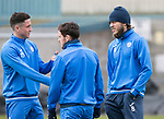 St Johnstone Training&hellip;14.04.17<br />Clive Smith, Danny Swanson and Murray Davidson pictured during training at McDiarmid Park this morning ahead of tomorrow&rsquo;s game against Aberdeen.<br />Picture by Graeme Hart.<br />Copyright Perthshire Picture Agency<br />Tel: 01738 623350  Mobile: 07990 594431