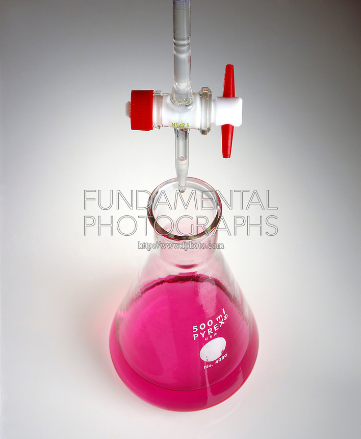METHYL RED INDICATOR (1 of 2)<br /> Colors HCl Solution (pH 4.2) Pink.<br /> NaOH in buret will raise pH