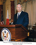 Gen. Colin Powell (ret) at The State Department.  Professional Image Photography by John Drew