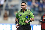 15 December 2013: Referee Hilario Grajeda. The University of Maryland Terripans played the University of Notre Dame Fighting Irish at PPL Park in Chester, Pennsylvania in a 2013 NCAA Division I Men's College Cup championship match. Notre Dame won the game 2-1.