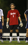 11 October 2007: Duke's Justin Papadakis. The University of North Carolina Tar Heels defeated the Duke University Blue Devils 1-0 in overtime at Fetzer Field in Chapel Hill, North Carolina in an Atlantic Coast Conference NCAA Division I Men's Soccer game.