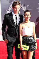 LOS ANGELES, CA, USA - AUGUST 24: Pierson Fode, Victoria Justice at the 2014 MTV Video Music Awards held at The Forum on August 24, 2014 in the Los Angeles, California, United States. (Photo by Xavier Collin/Celebrity Monitor)