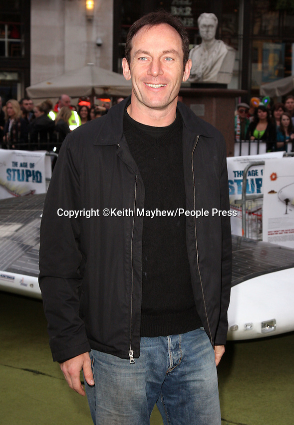 London - Jason Isaacs at the UK Premiere of 'The Age of Stupid' held in a Solar Powered Tent in Leicester Square, London. 15th March 2009..Photo by Keith Mayhew