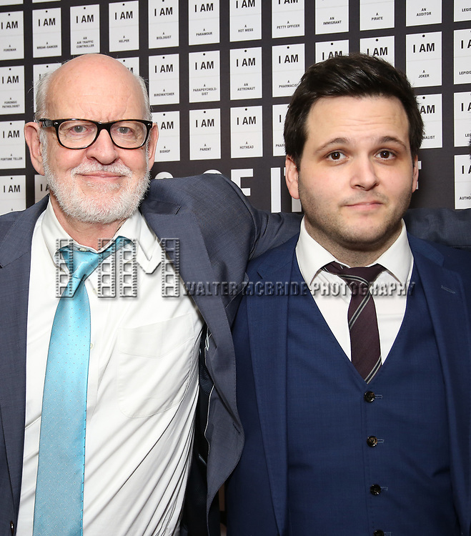 Frank Oz and Derek DelGaudio attend the Opening Night after party for 'In & Of Itself' at ACE Hotel on April 12, 2017 in New York City.