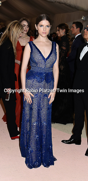 Anna Kendrick attends the Metropolitan Museum of Art Costume Institute Benefit Gala on May 2, 2016 in New York, New York, USA. The show is Manus x Machina: Fashion in an Age of Technology. <br /> <br /> photo by Robin Platzer/Twin Images<br />  <br /> phone number 212-935-0770