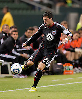 CARSON, CA – SEPTEMBER 18:  DC United midfielder Santino Quaranta (25) during a soccer match at Home Depot Center, September 18, 2010 in Carson California. Final score LA Galaxy 2, DC United 1.