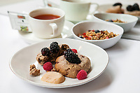 The Breezy Berry Scone with Homemade Apple Butter, and the Chaga Chai Detox Bowl from Sakara Life, which come prepared and packaged.<br /> <br /> Danny Ghitis for The New York Times