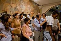 Roma 27 Giugno 2015<br /> Francesca Immacolata Chaouqui (L),ex componente della Commissione Cosea sulle strutture finanziarie del Vaticano, imputata al  processo Vatileaks, con i volontari al  centro di accoglienza  per migrati Baobab, vicino alla stazione Tiburtina.<br /> Al centro di accoglienza  per migrati Baobab, vicino alla stazione Tiburtina continua afflusso di migranti  provenienti soprattutto dall' Eritrea, ogni giorno circa 700 migranti mangiano al centro  e 300 sono ospitati la notte. Il professor Aldo Morrone, 60 anni, Presidente IME, Istituto Mediterraneo Ematologia, e infettivologo di fama mondiale, controlla lo stato di salute, dei rifugiati al centro Baobab.<br /> Francesca Immaculate Chaouqui (L), former member of Cosea Commission on the financial structures of the Vatican, imputed to the process Vatileaks,with the volunteers at the reception centre for immigrants, Baobab, in Tiburtina neighbourhood.<br /> Rome June 27, 2015<br /> At the Humanitarian emergency reception centre for immigrants, Baobab, in Tiburtina neighbourhood. continuous influx of migrants coming mainly from 'Eritrea, every day about 700 migrants eat in the centre and 300 are housed at night.  Professor Aldo Morrone, 60, President of EMI, Mediterranean Institute Hematology, and infectivologist of  world famous, check the state of health of the refugees at the center Baobab.