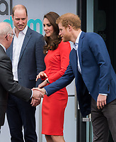 HAYES, UNITED KINGDOM - APRIL 20: William, Duke of Cambridge, Kate, Duchess of Cambridge, Prince Harry attends the official opening of The Global Academy in support of Heads Together on April 20, 2017 in Hayes, England. <br /> CAP/JOR<br /> &copy;JOR/Capital Pictures /MediaPunch ***NORTH AND SOUTH AMERICAS ONLY***