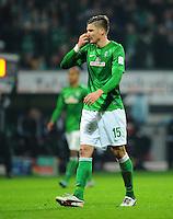 FUSSBALL   1. BUNDESLIGA    SAISON 2012/2013    17. Spieltag   SV Werder Bremen - 1. FC Nuernberg                     16.12.2012 Sebastian Proedl (SV Werder Bremen) enttaeuscht