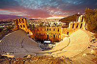Odeon of Herodes Atticus, amphitheater on the slopes of the Acropolis, Athens Greece