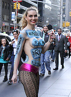 Naked News Reporter Seen In NYC