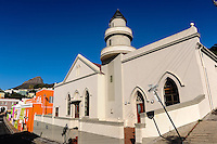 Bo-Kaap, the colourful Malay quarter in Cape Town, South Africa. Mosque Shaffee.
