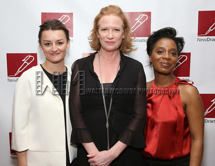 Alison Wright, Johanna Day and Michelle Wilson from 'Sweat' attends The New Dramatists' 68th Annual Spring Luncheon at the Marriott Marquis on May 16, 2017 in New York City.