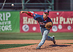 5 September 2016: Lowell Spinners pitcher Jared Oliver on the mound against the Vermont Lake Monsters at Centennial Field in Burlington, Vermont. The Monsters defeated the Spinners 9-5 to close out their 2016 NY Penn League season. Mandatory Credit: Ed Wolfstein Photo *** RAW (NEF) Image File Available ***