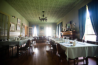 The dining room at the Hamilton Club in Morris Run, PA.