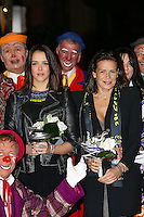 Princess Stéphanie Of Monaco & daughters at the 2nd day of 38th Monte-Carlo Circus Festival