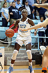 20 November 2016: North Carolina's Destinee Walker. The University of North Carolina Tar Heels hosted the Bucknell University Bisons at Carmichael Arena in Chapel Hill, North Carolina in a 2016-17 NCAA Women's Basketball game. UNC won the game 65-50.