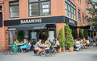 The Barawine restaurant on Lenox Avenue in the neighborhood of Harlem in New York on Sunday, August 9, 2015. (© Richard B. Levine)