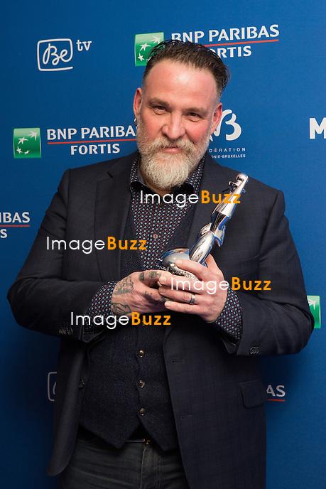 Bouli Lanners ( Magritte du meilleur r&eacute;alisateur &amp; Magritte du meilleur film ) : 7&egrave;me C&eacute;r&eacute;monie des Magritte du Cin&eacute;ma, qui r&eacute;compense le septi&egrave;me art belge, au Square, &agrave; Bruxelles - Salle de presse.<br /> 7th edition of the Magritte du Cinema awards ceremony - Press Room<br /> Belgium, Brussels, 4 February 2017