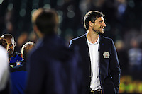 Luke Charteris of Bath Rugby looks on after the match. Aviva Premiership match, between Bath Rugby and Sale Sharks on October 7, 2016 at the Recreation Ground in Bath, England. Photo by: Patrick Khachfe / Onside Images