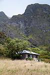 Paliku Cabin near the eastern-most flank of the interior of the crater of Haleakala National Park on the island of Maui, Hawaii, USA