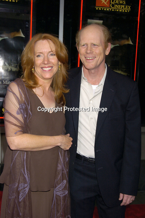 Cheryl and Ron Howard ..at the New York Premiere of Cinderella Man to benefit The Children's Defense Fund on June 1, 2005 at The Loews Lincoln Square Theatre...Photo by Robin Platzer, Twin Images