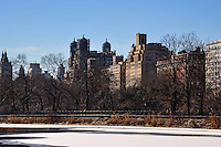 US, New York City, Central Park. The Jacqueline Kennedy Onassis Reservoir.