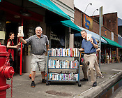 Regulator Bookshop Owners John Valentine, left, and Tom Campbell, have been selling books on Ninth Street  for nearly 34 years, Thursday, July 12 , 2012.