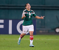 Washington, DC - October 21, 2014: Mexico defeated Jamaica 3-1 during their final group game of the CONCACAF Women's Championship at RFK Stadium.