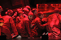 Seattle Opera Turandot Gold Cast Dress  Red chorus.