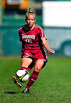 19 September 2010: Colgate University Raider defender Kiki Koroshetz, a Senior from Norwalk, CT, in action against the University of Vermont Catamounts at Centennial Field in Burlington, Vermont. The Raiders scored a pair of second half goals two minutes apart to notch a 2-0 victory over the Lady Cats in non-conference women's soccer play. Mandatory Credit: Ed Wolfstein Photo