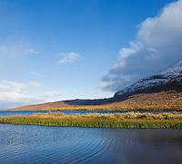 Lake Abeskojavri near Abiskojaure in autumn, Kungsleden trail, Lapland, Sweden