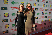 19/05/2015 <br /> Sarah o Flynn &amp; Leigh Anne Vaughan <br /> during the Irish mirror pride of Ireland awards at the mansion house, Dublin.<br /> Photo: gareth chaney Collins