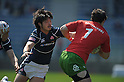 Yasutaka Sasakura (JPN), APRIL, 2012 - Rugby : HSBC Sevens World Series Tokyo Sevens 2012, between Japan 5-21 Portugal at Chichibunomiya Rugby Stadium, Tokyo, Japan. (Photo by Atsushi Tomura /AFLO SPORT) [1035]