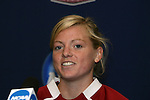 05 December 2009: Senior defender Alicia Jenkins. The Stanford University Cardinal held a press conference at the Aggie Soccer Complex in College Station, Texas on the day before playing the University of North Carolina Tar Heels in the NCAA Division I Women's College Cup championship game.