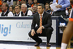 02 January 2016: Virginia head coach Tony Bennett. The University of Virginia Cavaliers hosted the University of Notre Dame Fighting Irish at the John Paul Jones Arena in Charlottesville, Virginia in a 2015-16 NCAA Division I Men's Basketball game. Virginia won the game 77-66.