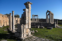 General view of the Temple of Juno Caelestis, 3rd century, in Dougga, Tunisia, pictured on January 31, 2008, in the morning. Dougga has been occupied since the 2nd Millenium BC, well before the Phoenicians arrived in Tunisia. It was ruled by Carthage from the 4th century BC, then by Numidians, who called it Thugga and finally taken over by the Romans in the 2nd century. Situated in the north of Tunisia, the site became a UNESCO World Heritage Site in 1997. Picture by Manuel Cohen.