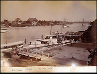BNPS.co.uk (01202 558833)<br /> Pic: 25BlytheRoad/BNPS<br /> <br /> View of Bangkok from the Naval depot.<br /> <br /> Stunning 125 year-old pictures of Thailand which showcase the tropical paradise long before it became a tourist hot-spot have emerged.<br /> <br /> The collection of photographs from the early 1890s include images of the King's birthday celebrations in 1892, the King's palace and the Bangkok architecture.<br /> <br /> Also included in the collection are photographs of Hong Kong under British crown rule in 1895 including of British seamen, the Hong Kong cricket team and the native army.<br /> <br /> The photo album will go under the hammer on January 25 and is tipped to sell for &pound;1,500.<br /> <br /> The owner of the album is believed to have been a member of the Royal Engineers or connected with them.<br /> <br /> The fascinating photos provide a snapshot of Thailand under the rule of King Chulalongkorn.<br /> <br /> He was the first Siamese king to have a full western education, having been taught by British governess Anna Leonowens whose memoirs were transported to the silver screen in the famous film The King and I.