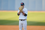 Ole Miss' Mike Mayers (28) pitches vs. Memphis at Oxford University Stadium in Oxford, Miss. on Tuesday, February 22, 2011.