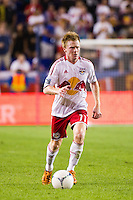 Dax McCarty (11) of the New York Red Bulls. The New York Red Bulls defeated the Houston Dynamo 2-0 during a Major League Soccer (MLS) match at Red Bull Arena in Harrison, NJ, on August 10, 2012.