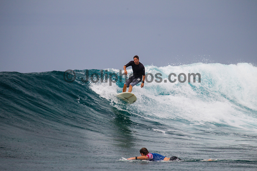 Namotu Island Resort, Fiji. (Monday, May 13, 2013) -   There were light winds  for most of the day with an increase in swell over night.  With the surf in the 6' plus range people  surfed Swimming Pools, Cloudbreak, Namuto Lefts and Wilkies during  the day. Photo: joliphotos.com