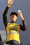 Lars Boom (NED) Team Lotto NL-Jumbo on stage at sign on before the 101st edition of the Tour of Flanders 2017 running 261km from Antwerp to Oudenaarde, Flanders, Belgium. 26th March 2017.<br /> Picture: Eoin Clarke | Cyclefile<br /> <br /> <br /> All photos usage must carry mandatory copyright credit (&copy; Cyclefile | Eoin Clarke)