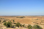 Israel, Shephelah, view from Tel Zafit, identified as Biblical Gath, one of the ancient Canaanite and Philistine five cities (along with Gaza, Ekron, Ashkelon, and Ashdod)