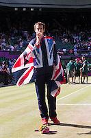 ..Tennis - OLympic Games -Olympic Tennis -  London 2012 -  Wimbledon - AELTC - The All England Club - London - Sunday 5th August  2012. .© AMN Images, 30, Cleveland Street, London, W1T 4JD.Tel - +44 20 7907 6387.mfrey@advantagemedianet.com.www.amnimages.photoshelter.com.www.advantagemedianet.com.www.tennishead.netAndy Murray ..Tennis - OLympic Games -Olympic Tennis -  London 2012 -  Wimbledon - AELTC - The All England Club - London - Sunday 5th August  2012. .© AMN Images, 30, Cleveland Street, London, W1T 4JD.Tel - +44 20 7907 6387.mfrey@advantagemedianet.com.www.amnimages.photoshelter.com.www.advantagemedianet.com.www.tennishead.net