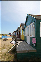 BNPS.co.uk (01202 558833)<br /> Pic: CorinMesser/BournemouthEcho/BNPS<br /> <br /> A 'street-view' of the beach hut at Mudeford Spit, near Christchurch.  <br /> <br /> Britain's most expensive beach hut has gone on the market for a whopping 225,000 pounds - and it doesn't even come with sea views.<br /> <br /> The wooden shack, that measures 13ft by 13ft, looks out onto sand dunes and offers  glimpses of the sea. It is also right next to a public toilet block.<br /> <br /> The timber hut on Mudeford Spit near Christchurch, Dorset, is divided up into three rooms - a living area, bedroom and a mezzanine level.<br /> <br /> It has no bathroom, mains electricity or running water and requires a ride on a novelty land train or a 30 minute walk to get there.